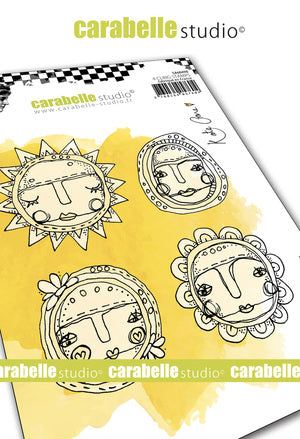 Carabelle Studio - Rubber Cling Stamp Set A6 - Art Dolls - Kate Crane