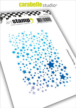 Carabelle Studio - Rubber Cling Stamp A7 - Background Stars