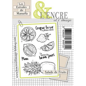 L'Encre et L'Image - A6 - Clear Stamp Set - Fruit Salad