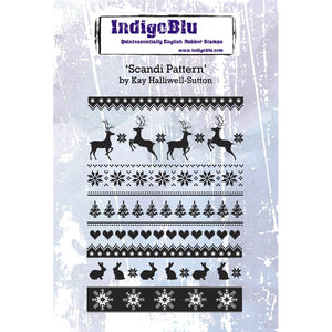 IndigoBlu - Cling Mounted Stamp - Scandi Pattern