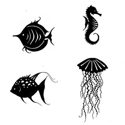 Lavinia - Sea Creatures - Clear Polymer Stamp