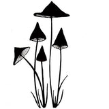 Lavinia - Slender Mushrooms - Clear Polymer Stamp