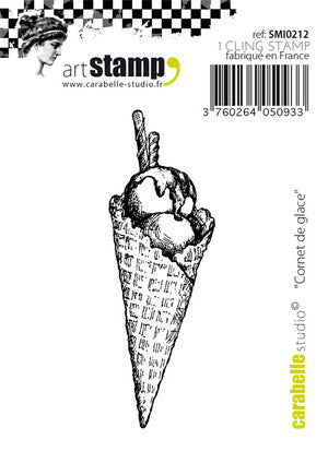 Carabelle Studio - Rubber Cling Stamp - Ice Cream Cone