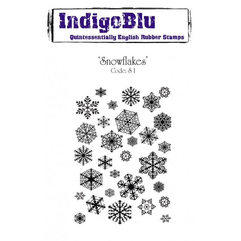 IndigoBlu - Cling Mounted Stamp - Snowflakes