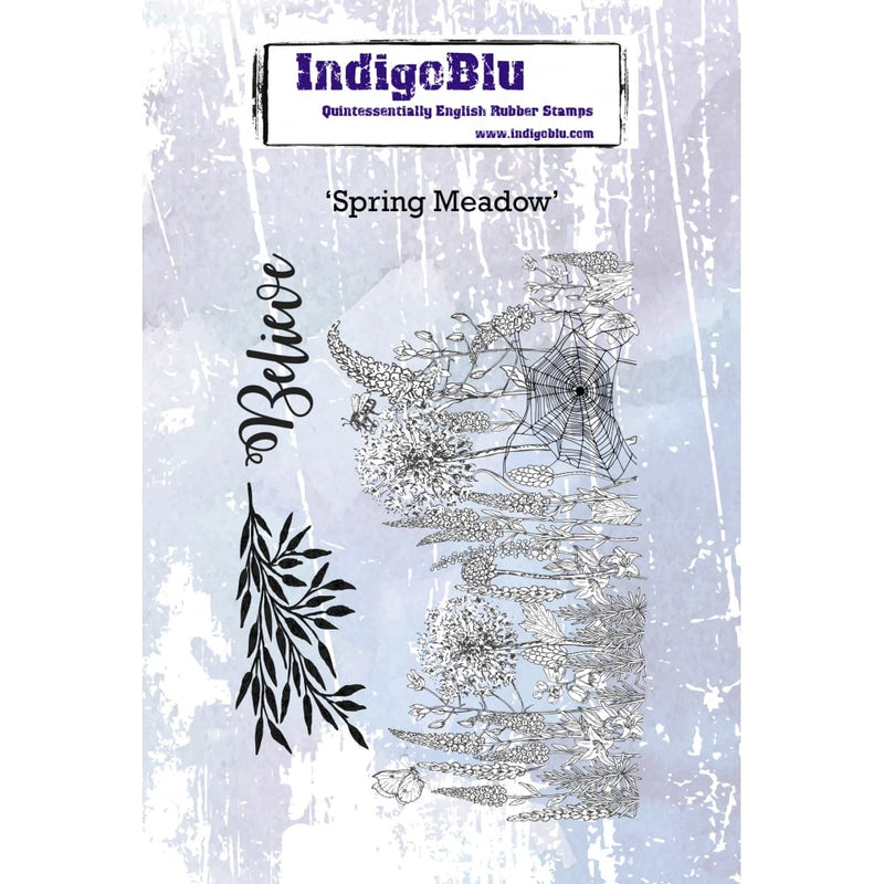 IndigoBlu - Cling Mounted Stamp - Spring Meadow