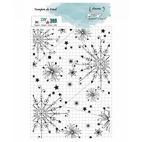 DIY & Cie - Clear Silicon Stamp - Snowflakes Background Stamp
