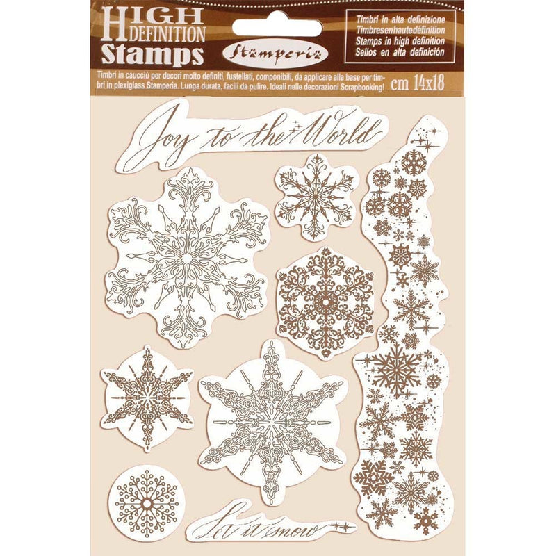 Stamperia - A5 - Foam Mounted Stamp Set - Snowflakes