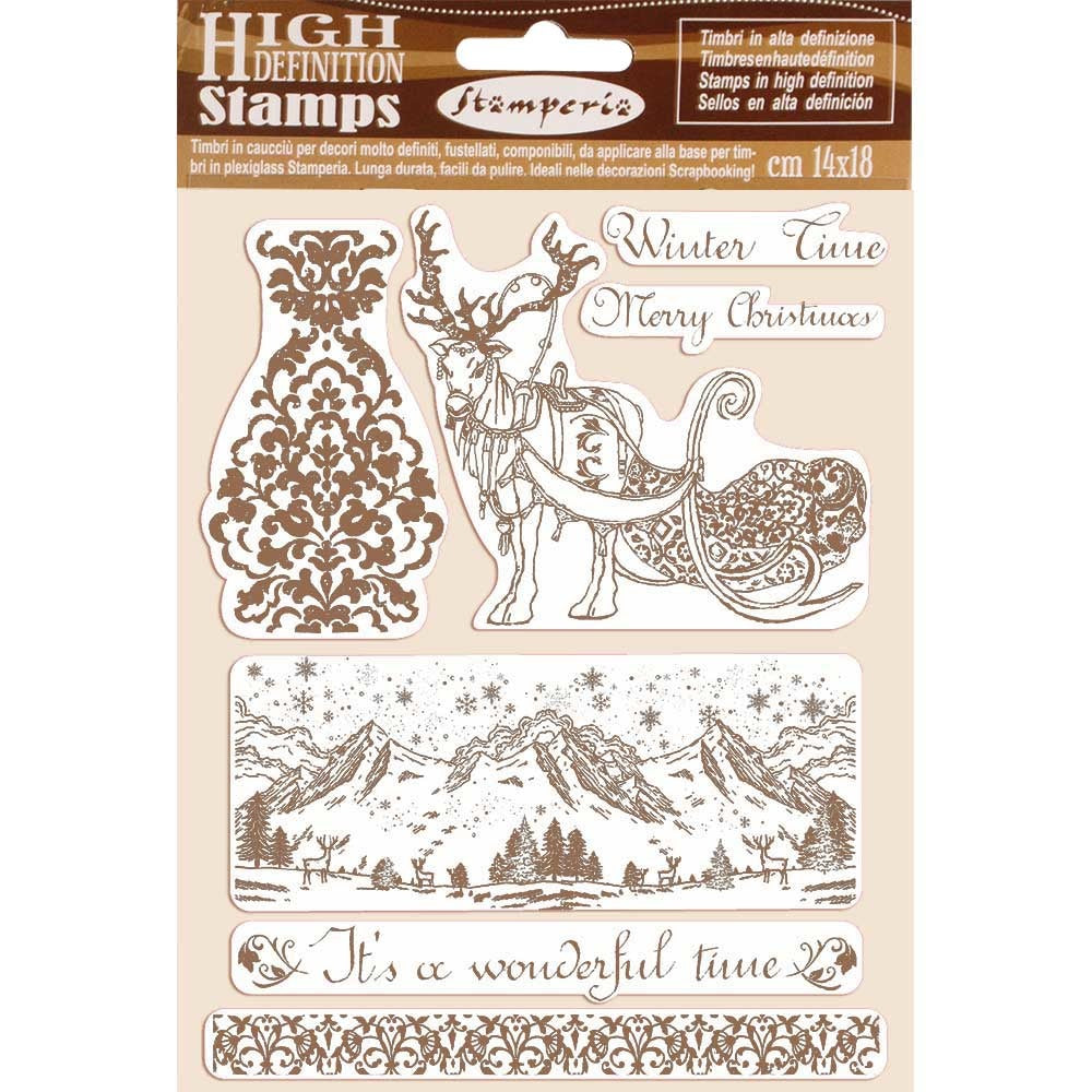 Stamperia - A5 - Foam Mounted Stamp Set - Winter Time