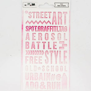 DIY & Cie - Stencil - Urban Words