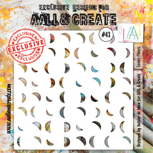 AALL & Create - Stencil - #43 - Lunar Phases