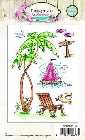 Studio Light - Clear Polymer Stamp Set - Romantic Summer