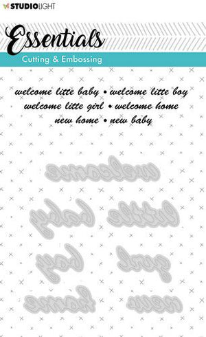 Studio Light - Essentials Cutting & Embossing - 184 - Welcome, Baby, Home