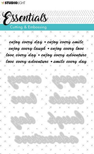 Studio Light - Essentials Cutting & Embossing Dies - 186 - Enjoy, Love. Smile