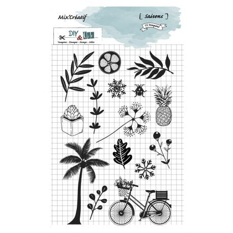 DIY & Cie - Clear Silicon Stamp - Seasons