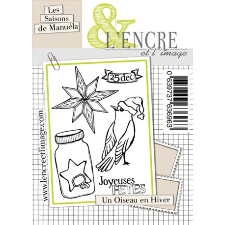 L'Encre et L'Image - A6 - Clear Stamp Set - A Bird in Winter