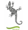 Katzelkraft - Gecko -  Unmounted Red Rubber Stamp
