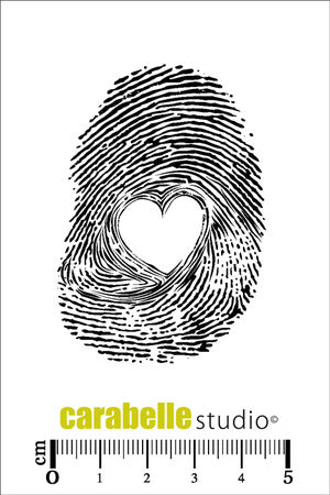 Carabelle Studio - Rubber Cling Stamp - Fingerprint Heart