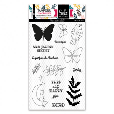 Sokai - Clear Stamp Set - A6 - Secret Garden