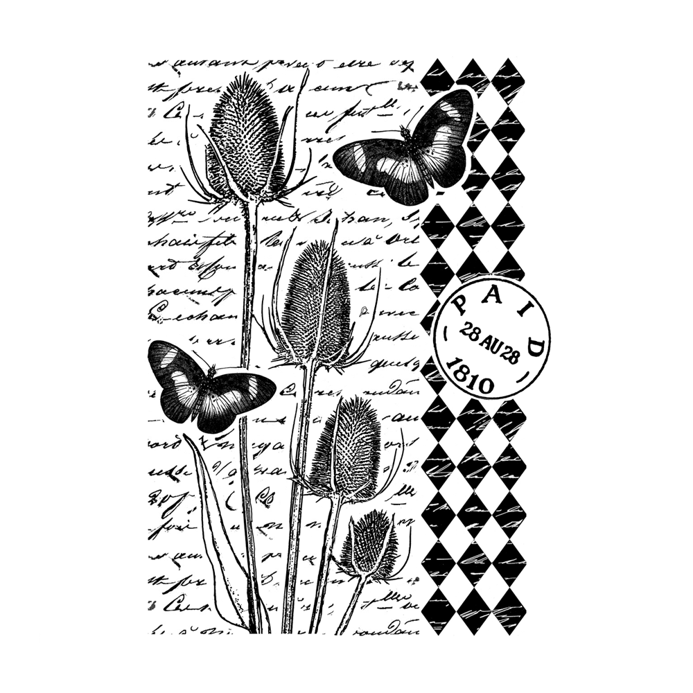 Crafty Individuals - Unmounted Rubber Stamp - 472 - Tempting Teasels