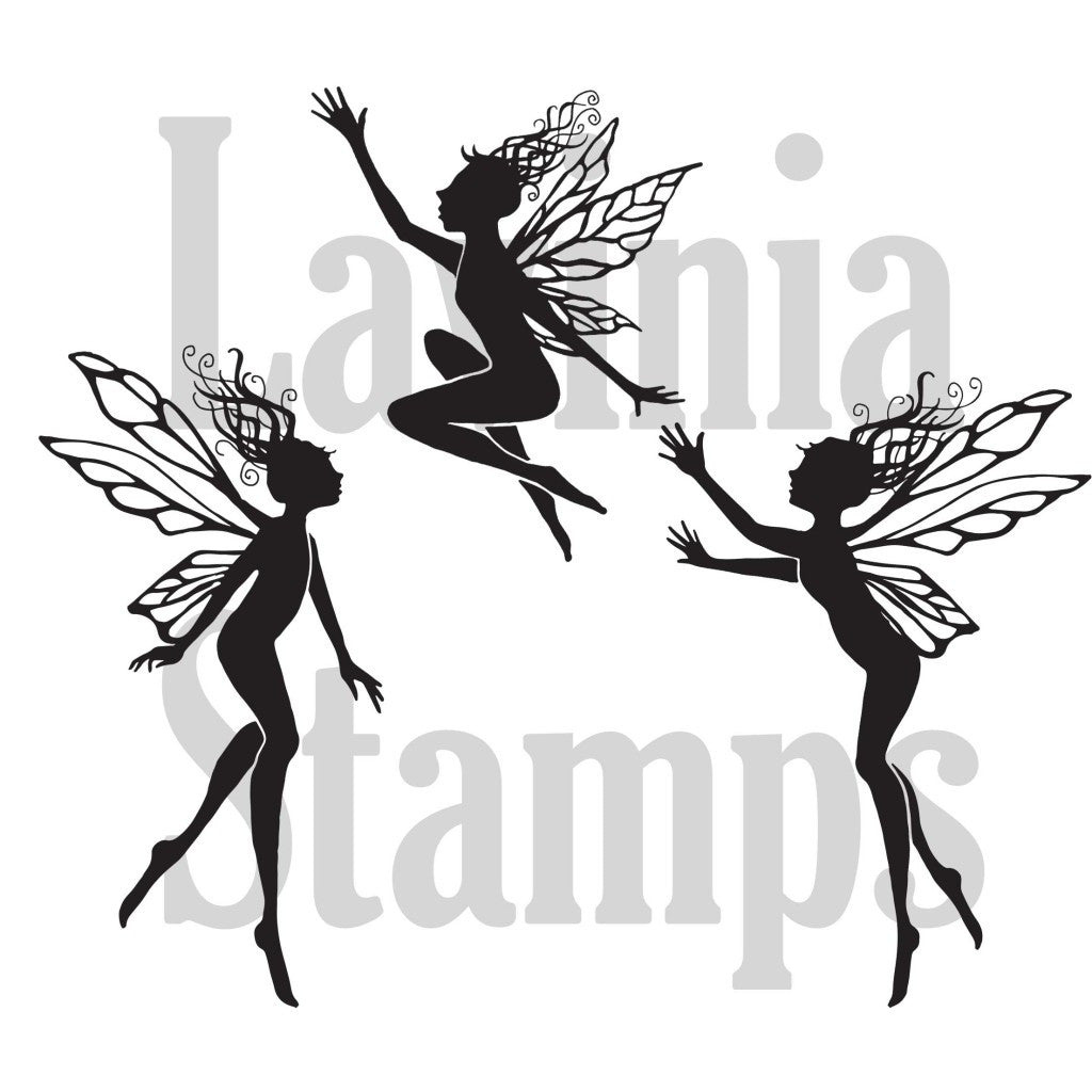 Lavinia - Three Dancing Fairies - Clear Polymer Stamp