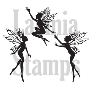 Lavinia - Three Dancing Fairies - Clear Polymer Stamp - PREORDER