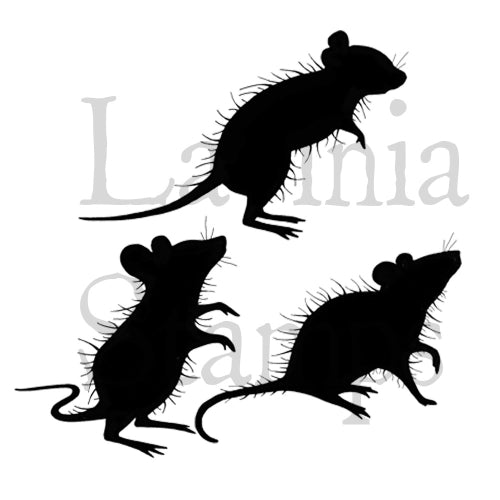 Lavinia - Three Woodland Mice - Clear Polymer Stamp