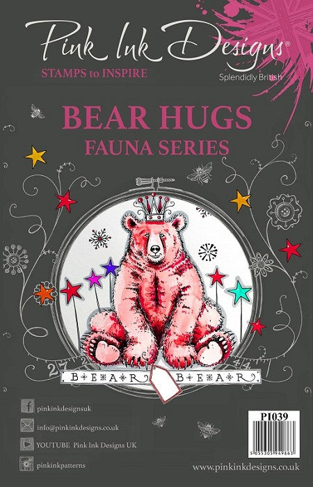 Pink Ink Designs - Clear Photopolymer Stamps - Bear Hugs