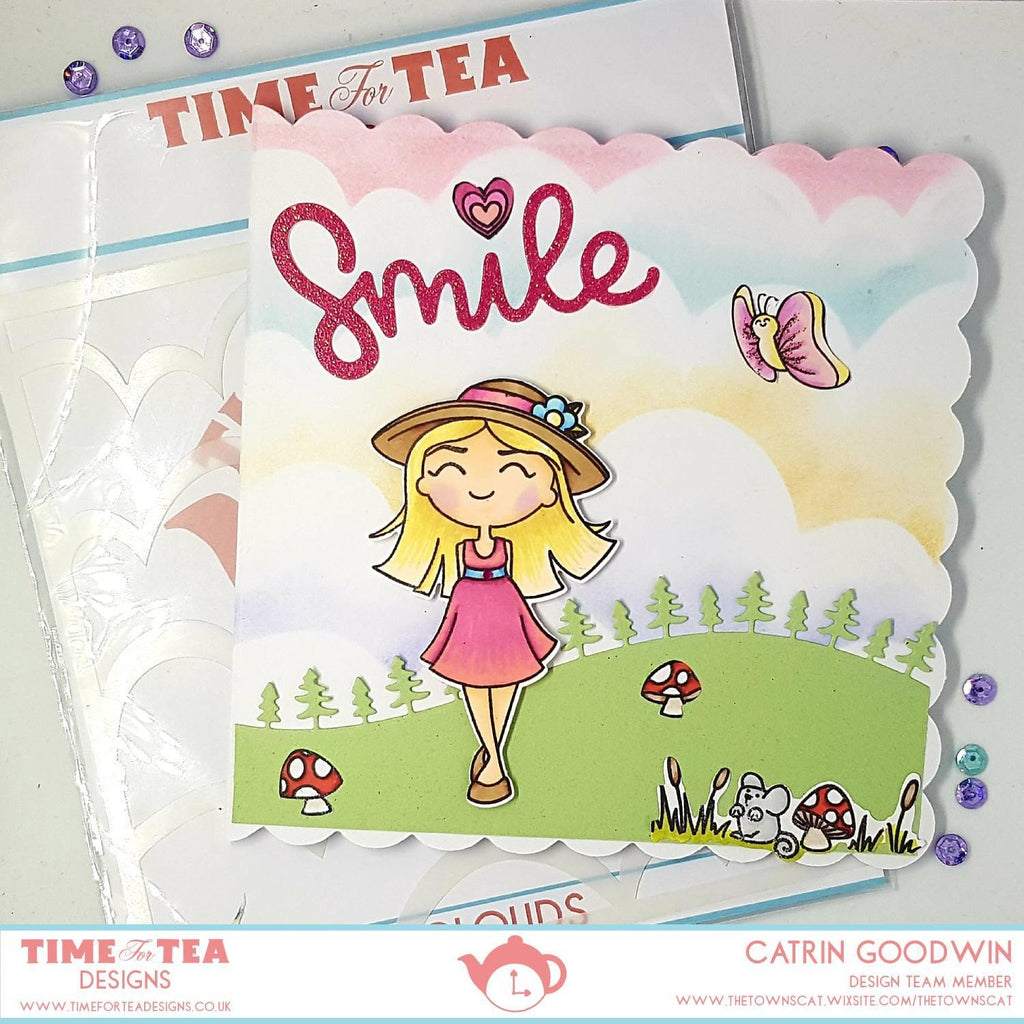 Time For Tea - Clear Stamp Set - Butterflies