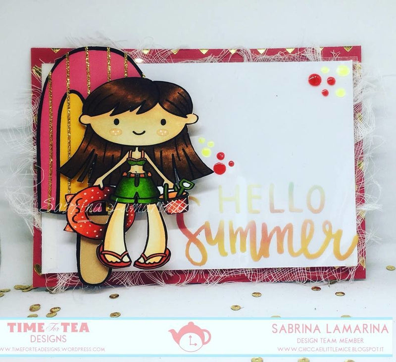 Time For Tea - Clear Stamp Set - Life's A Beach