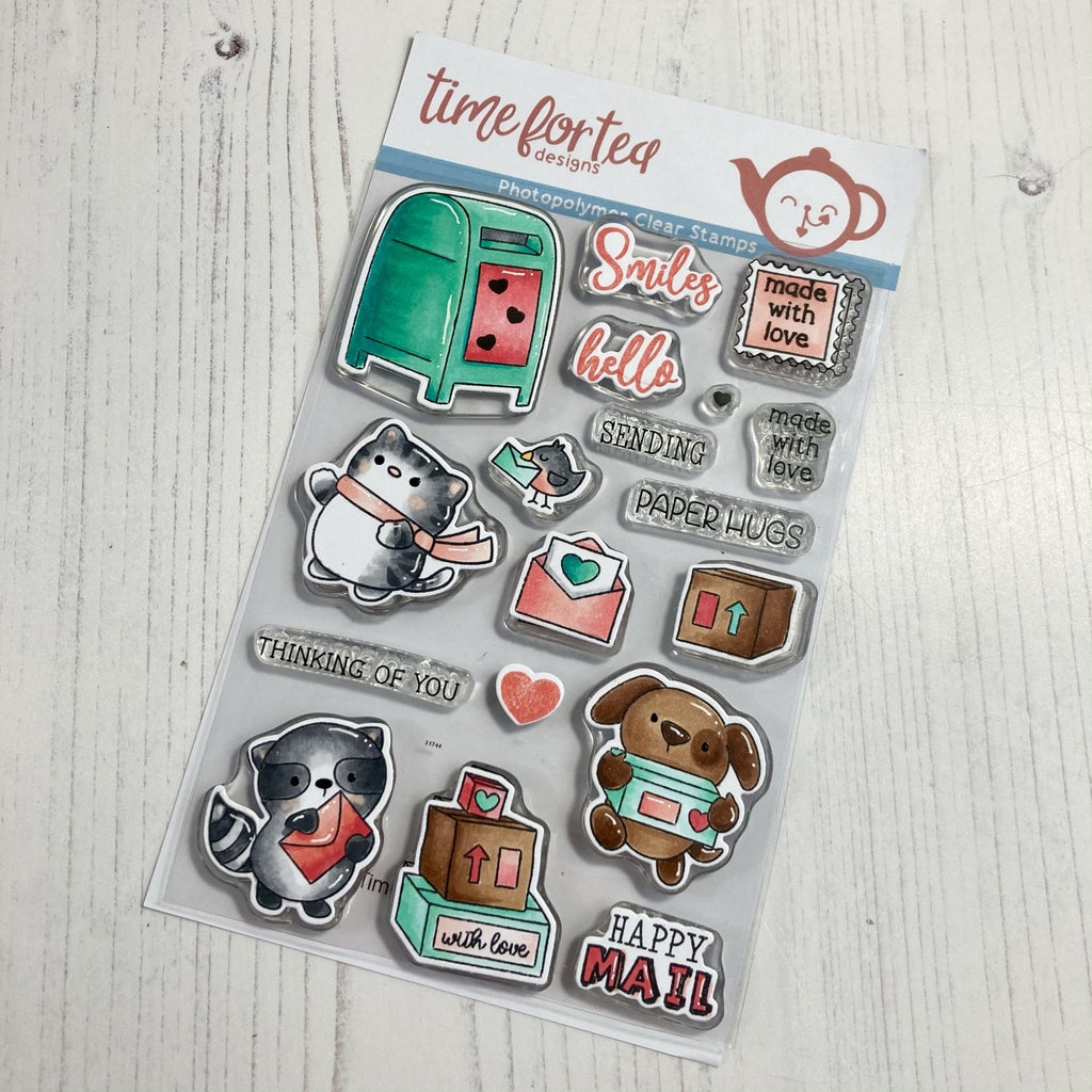 Time For Tea - Clear Stamp Set - Happy Mail Critters