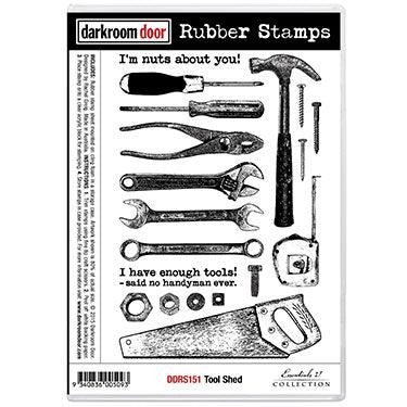 Darkroom Door - Tool Shed - Red Rubber Cling Stamps