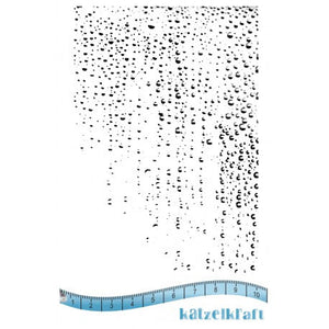 Katzelkraft - Waterwall Unmounted Red Rubber Stamp