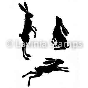 Lavinia - Whimsical Hares - Rabbits - Clear Polymer Stamp