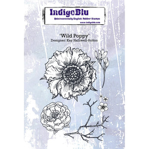 IndigoBlu - Cling Mounted Stamp - Wild Poppy