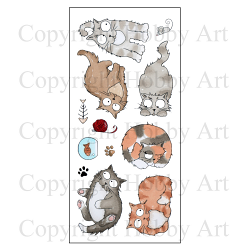 Hobby Art Stamps - Clear Polymer Stamp Set - Catz