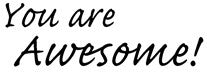 Magenta - You Are Awesome - Rubber Cling Stamp