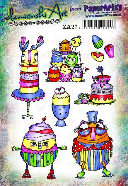 PaperArtsy - Zinski Art 27 - Rubber Cling Mounted Stamp Set