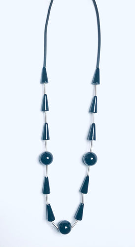 Silver/black & Onyx Necklace