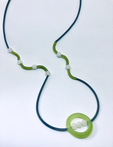 Glassy Green Necklace