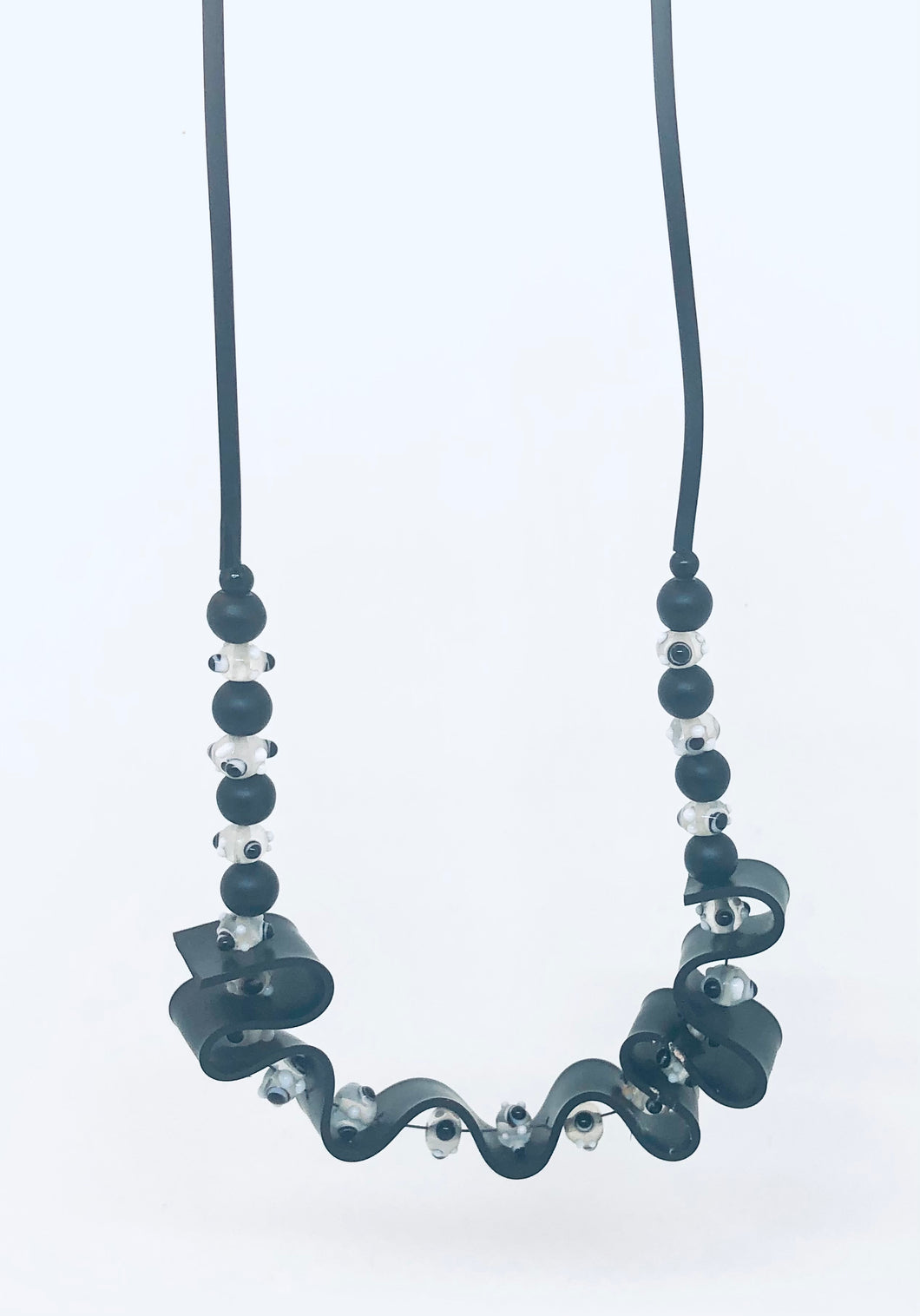 Rubber & Glass Necklace
