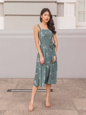 Cora Floral dress in Teal