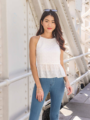 Belle Eyelet Top - White