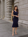 Velly Mermaid Dress in Mid Night Blue