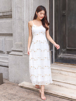 Camilia Floral Embriodery Lace Dress