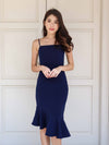 Patty Mermaid Padded Dress in Navy