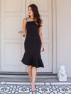 *RESTOCKED* Patty Mermaid Padded Dress in Black
