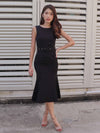 Sera Buckle Dress in Black