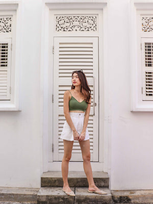 *RESTOCKED 2* Essential Bralet in Olive