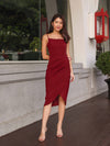 Davo Cocktail Dress in Maroon