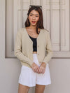 Hela Knitted Short Cardigan in Cream